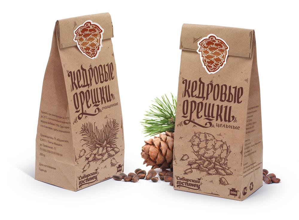 упаковка орехов «Сибирского гостинца»