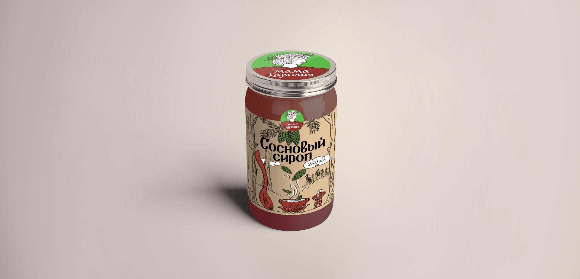 Упаковка Сосновый сироп Мама Карелия