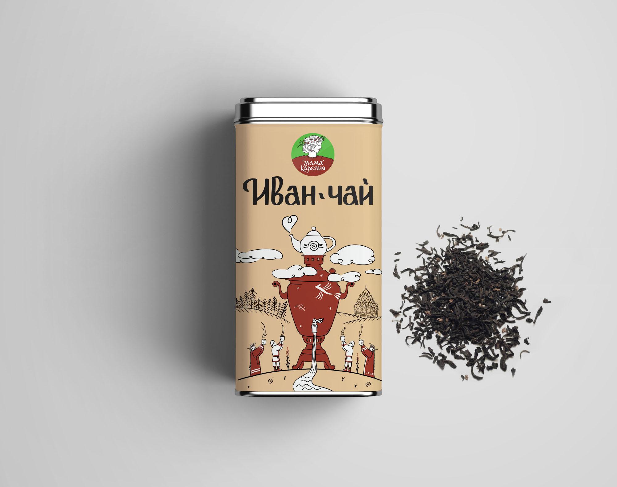 Железная упаковка Иван-чая Мама Карелия