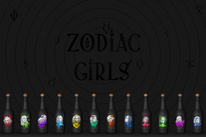 Серия этикеток пива и вина