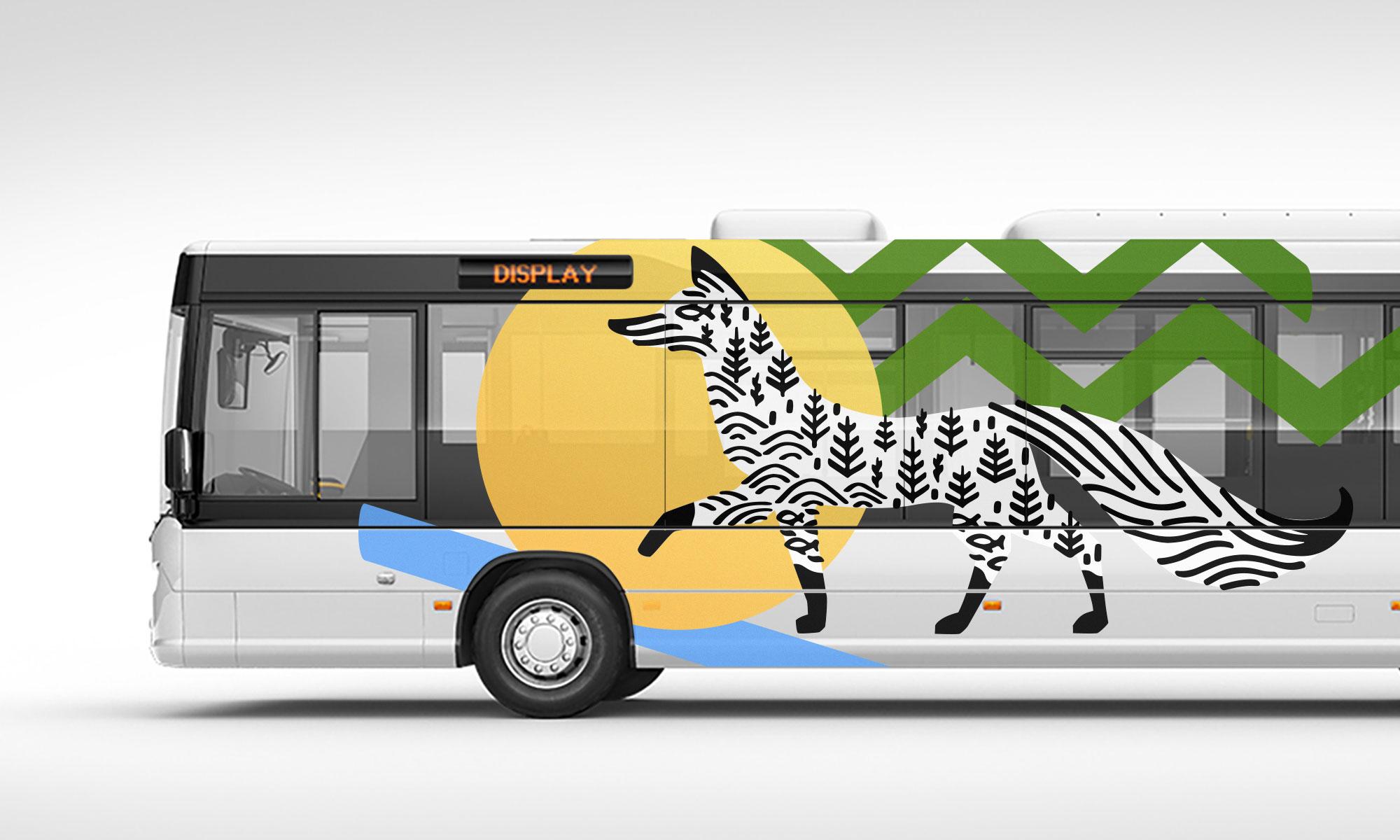 Брендинг города Сургут автобус