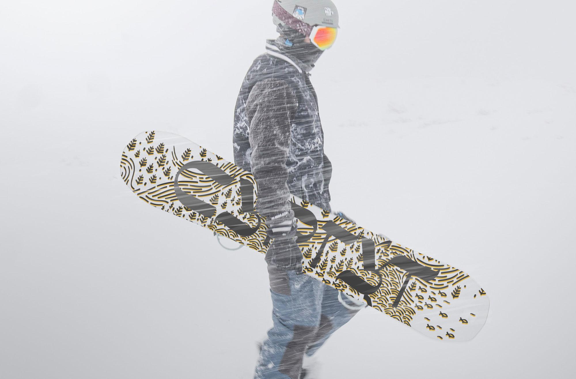 Сноуборд с логотипом Сургут