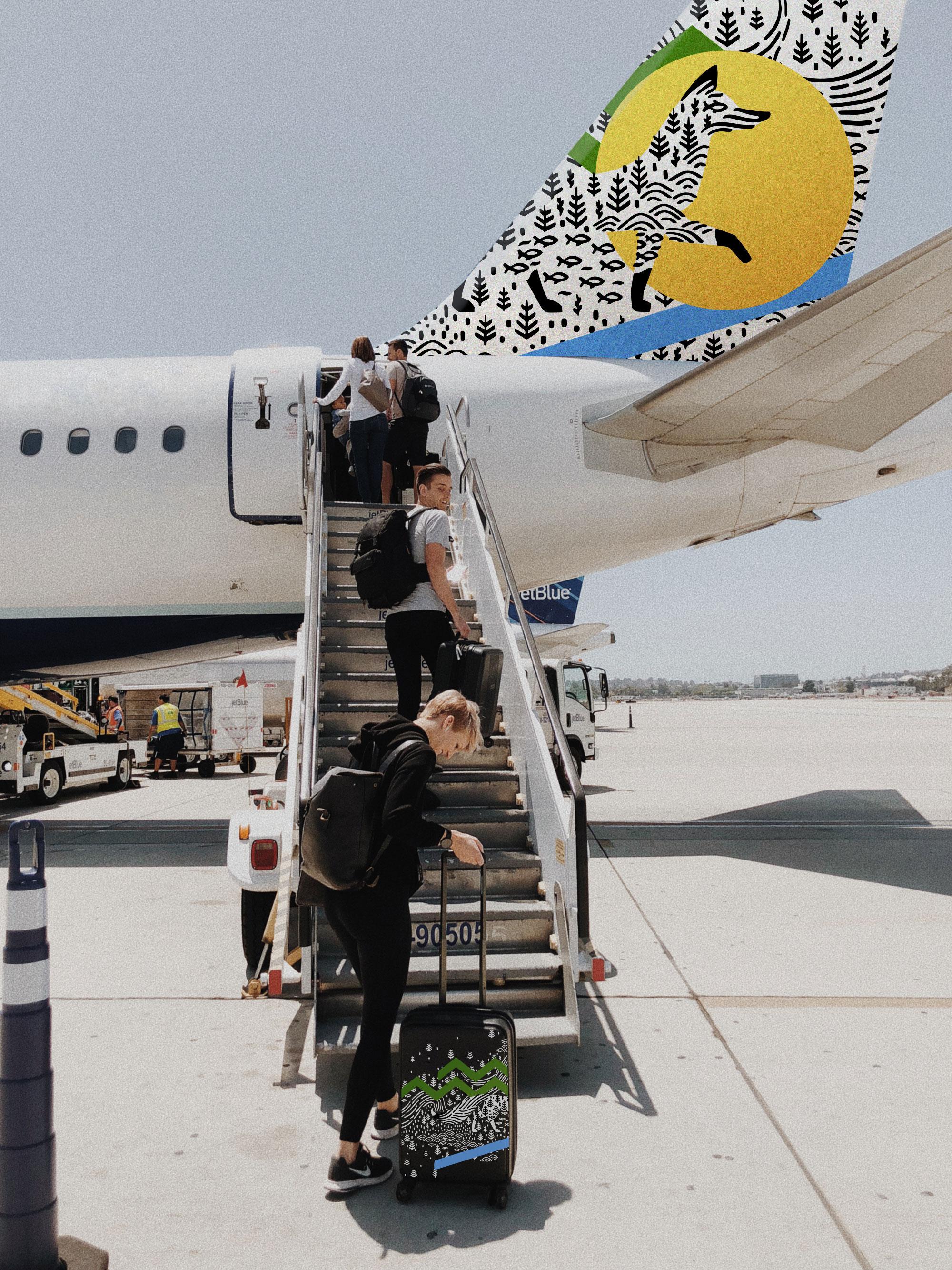 Самолет туристический логотип Сургута